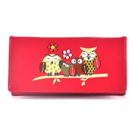 Owl Rest - Long Wallet - Fuschia