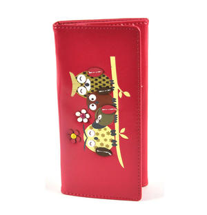 Owl Rest - Long Wallet - Fuschia Thumbnail 5