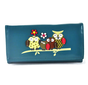 Owl Rest - Long Wallet - Blue Thumbnail 1