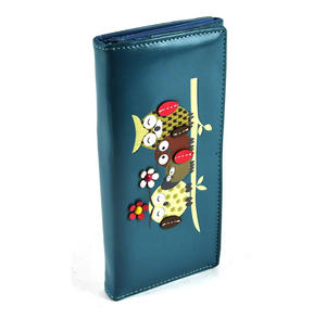 Owl Rest - Long Wallet - Blue Thumbnail 6