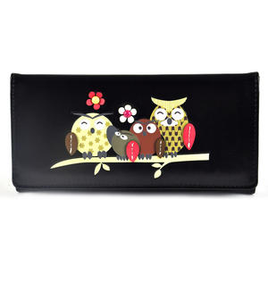 Owl Rest - Long Wallet - Black Thumbnail 1