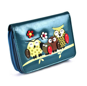 Owl Rest - Medium Wallet - Blue