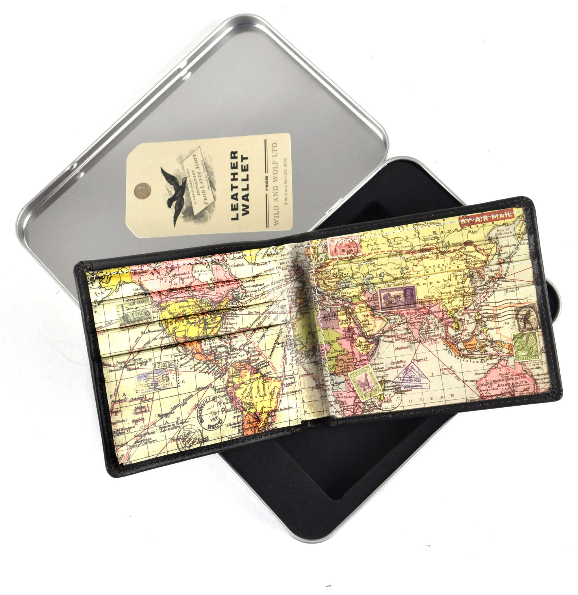 Global map leather wallet in presentation tin pink cat shop global map leather wallet in presentation tin gumiabroncs Gallery