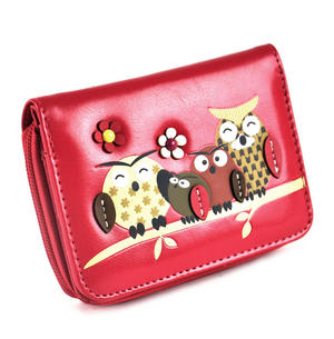 Owl Rest - Medium Wallet - Fuschia