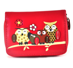 Owl Rest - Medium Wallet - Fuschia Thumbnail 2