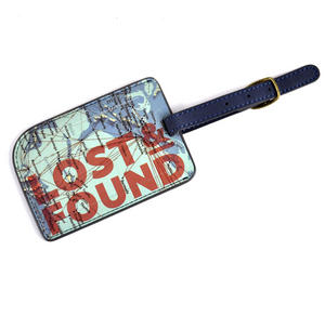 Cartography Lost and Found Luggage Tag