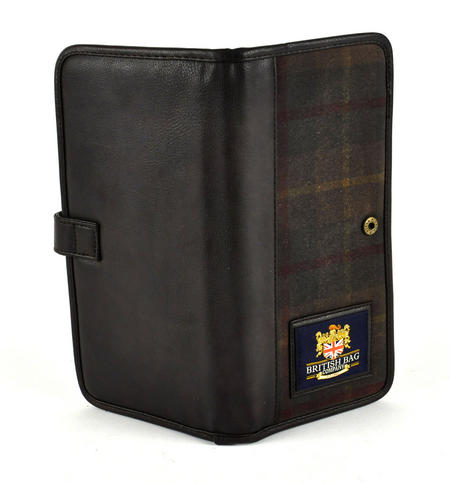 Millerain Green Check Travel Documents Wallet / Organiser