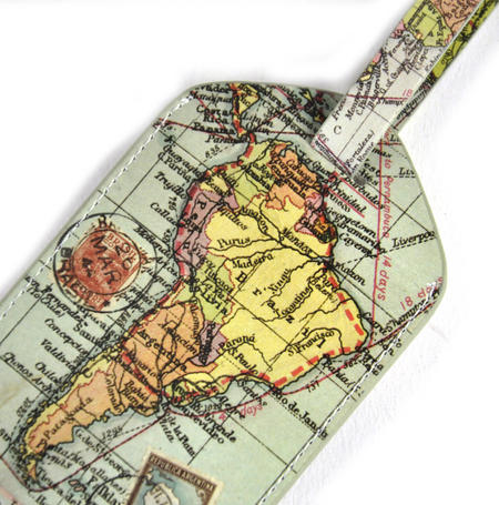 Global Map Luggage Tag