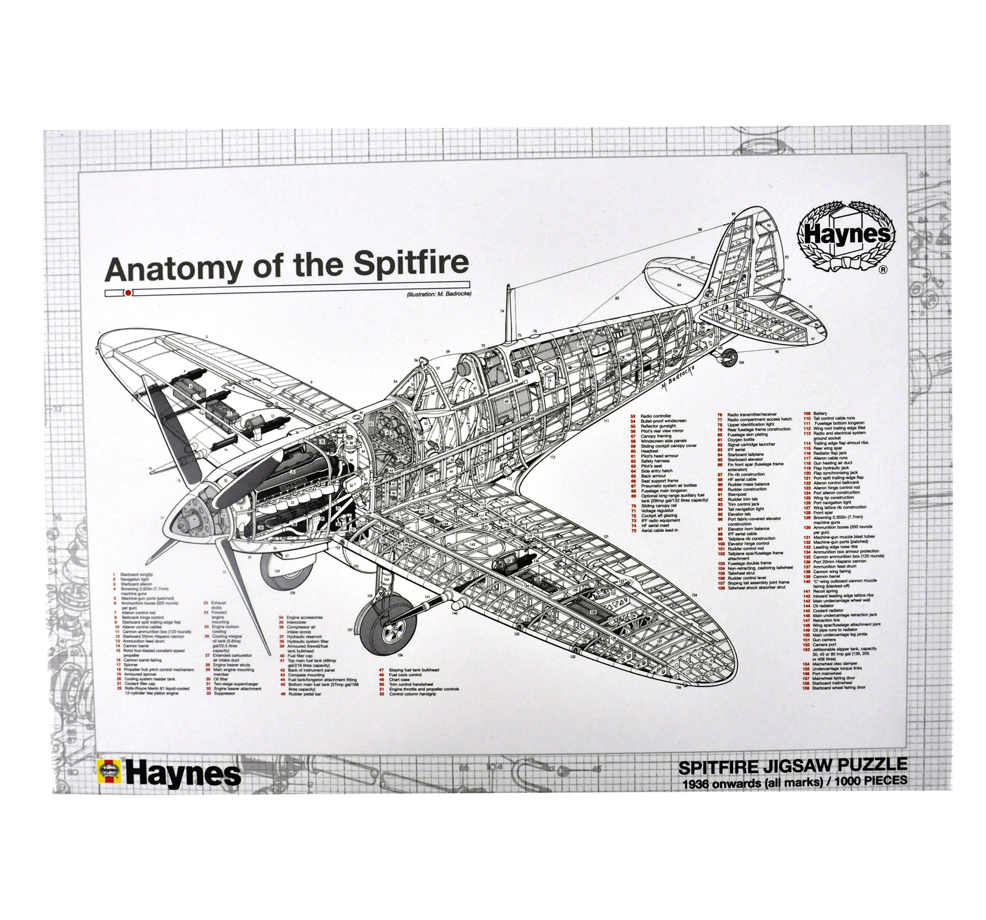 Anatomy of the Spitfire 1000Pc Jigsaw Puzzle | Pink Cat Shop