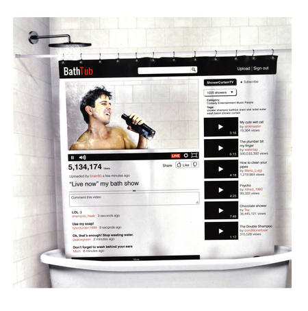 Your Tube Window 'On Line' Shower Curtain