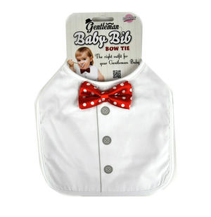 Gentleman Baby Bib with Bow Tie Thumbnail 1