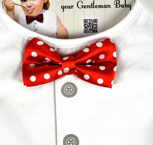 Gentleman Baby Bib with Bow Tie Thumbnail 2