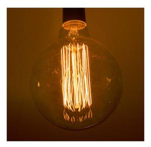 "Vintage Element Light Bulb - ABC 2505 - Round Clear Glass 40 Watts - 12cm / 5"" Thumbnail 3"