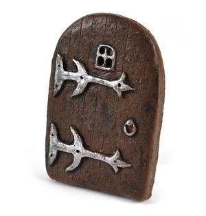 "9cm / 3.5"" Small Rounded Magical Fairy Door  - Fiddlehead Fairy Garden Collection Thumbnail 1"
