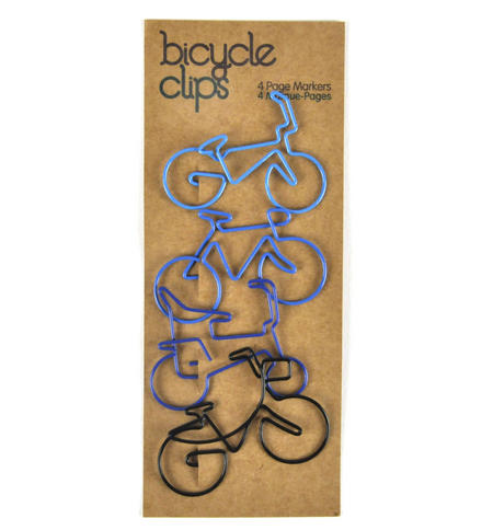 Blue Bicycle Clips - 4 Page Markers