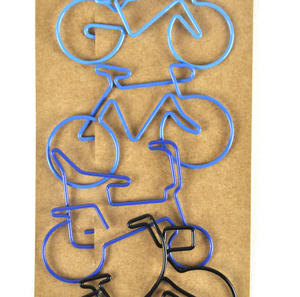 Blue Bicycle Clips - 4 Page Markers Thumbnail 2