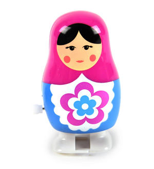 Clockwork  Racing Wind Up Russian Doll Matrioshka Babushka - Random Designs Thumbnail 1