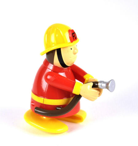 Clockwork  Racing Wind Up Fireman - Random Designs