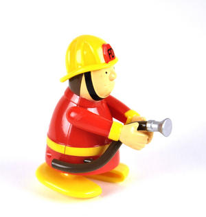 Clockwork  Racing Wind Up Fireman - Random Designs Thumbnail 1
