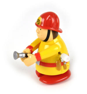 Clockwork  Racing Wind Up Fireman - Random Designs Thumbnail 3