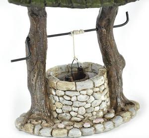 Fairy Village Wishing Well - Fiddlehead Fairy Garden Collection Thumbnail 5