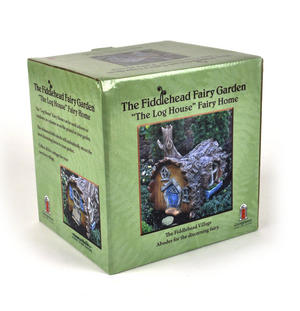 Log  House Fairy Home - Fiddlehead Fairy Garden Collection Thumbnail 5