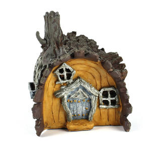 Log  House Fairy Home - Fiddlehead Fairy Garden Collection Thumbnail 7