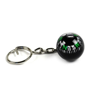 Compass Globe Key Ring Thumbnail 1