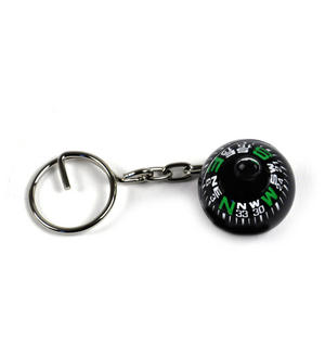 Compass Globe Key Ring Thumbnail 2