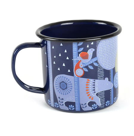 Folklore Night-time Woodland Enamel Mug