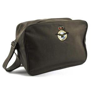 Air Force ' Per ardva ad astra' Khaki Green Large Messenger Shoulder Bag