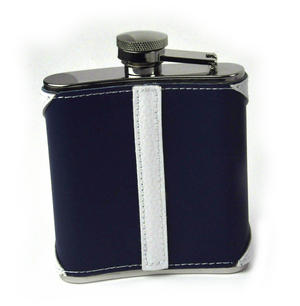 Scotland Flag Deluxe Leather Scottish Hip Flask Thumbnail 4