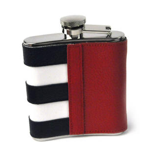 Cuban Flag Deluxe Leather Cuba Hip Flask Thumbnail 4