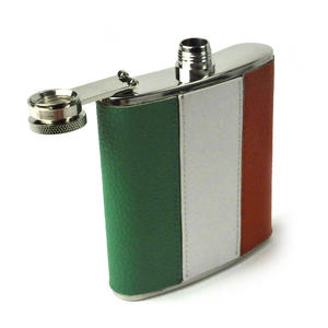 Ireland Flag Deluxe Leather Irish Hip Flask Thumbnail 3
