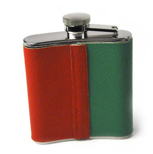 Ireland Flag Deluxe Leather Irish Hip Flask Thumbnail 4