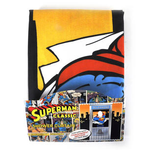 Superman Phone Box Shower Curtain with Window Thumbnail 2