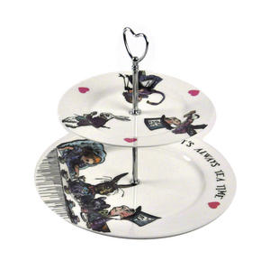 Alice In Wonderland 'It's Always Tea Time' Fine Porcelain Cake Stand Thumbnail 2