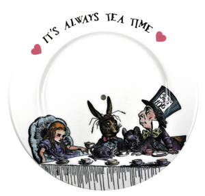 Alice In Wonderland 'It's Always Tea Time' Fine Porcelain Cake Stand Thumbnail 4