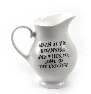 Alice In Wonderland The Dodo 'Begin at the Beginning' Fine Porcelain Creamer / Milk Jug Thumbnail 2