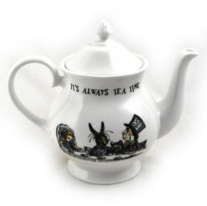 Alice In Wonderland 'It's Always Tea Time' Fine Porcelain Large Teapot Thumbnail 1