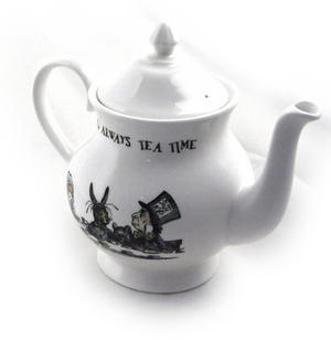 Alice In Wonderland 'It's Always Tea Time' Fine Porcelain Large Teapot Thumbnail 2