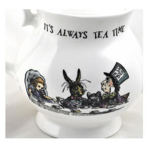 Alice In Wonderland 'It's Always Tea Time' Fine Porcelain Large Teapot Thumbnail 3