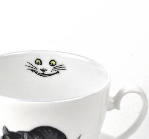 Alice In Wonderland Fine Porcelain Cheshire Cat Tea Cup and Saucer - 'We're All Mad Here' Thumbnail 4