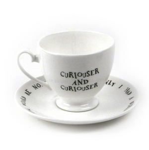Alice In Wonderland Fine Porcelain Alice Tea Cup and Saucer - 'Curiouser and Curiouser' Thumbnail 4