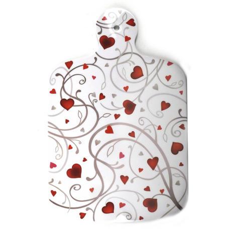 "Lovehearts  - Melamine Chopping Board 34cm / 8.5"" X 13"""