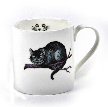 Alice In Wonderland Fine Porcelain Cheshire Cat Mug