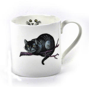 Alice In Wonderland Fine Porcelain Cheshire Cat Mug Thumbnail 1
