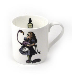 Alice In Wonderland Fine Porcelain Alice Tea Mug - 'Curiouser and Curiouser' Thumbnail 1