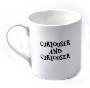 Alice In Wonderland Fine Porcelain Alice Tea Mug - 'Curiouser and Curiouser' Thumbnail 2