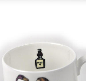 Alice In Wonderland Fine Porcelain Alice Tea Mug - 'Curiouser and Curiouser' Thumbnail 3